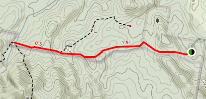 Lower Portals and Mount Barney Map