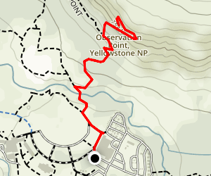 Yellowstone Observation Point Map