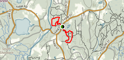 Chase Woodlands and Peters Reservation Loop Map