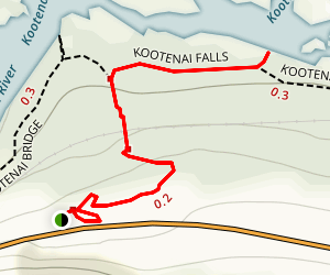 Kootenai Falls Trail Map