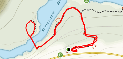 Kootenai Swinging Bridge Trail Map
