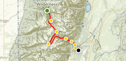 Devil Staircase, Death Canyon Shelf and Phelps Lake Map