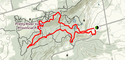 Pretty River Valley Loop Map