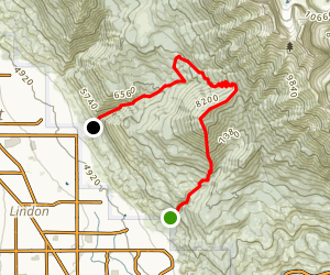 Big Baldy Through Trail Map