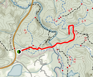 Covered Bridge and Grassy Creek Falls Map