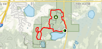 Millersylvania Northwest Loop Map