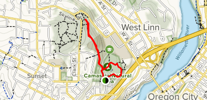 Camassia Preserve Loop Trail Map