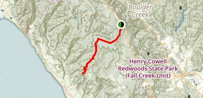 Bloogell Road to Molina Creek Map