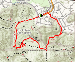 Los Padres Trail and Vista Loop Map