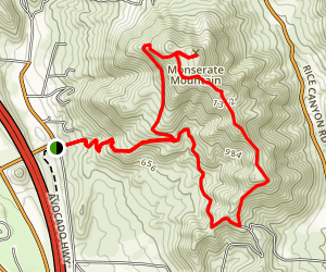 Monserate Mountain Trail Loop Map