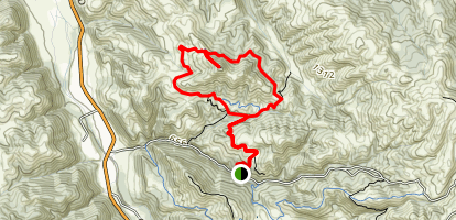 Maguire Peaks Trail Map