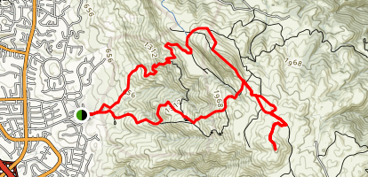 Mount Allison And Mission Peak Map