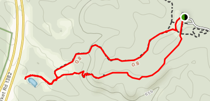 Escarpment and Cattail Pond Loop Map