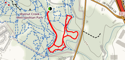 Big Walnut Creek Loop Map