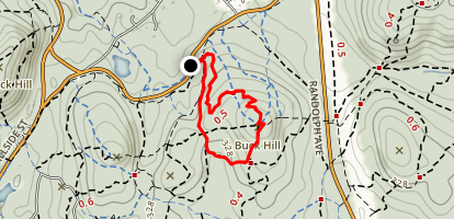 Buck Hill and Doe Hollow Path Map