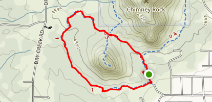 Lower Chimney Rock Loop Map