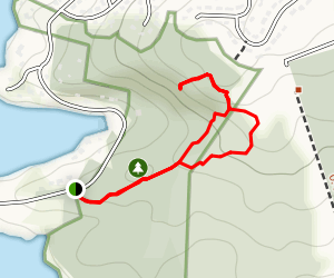 Admiral Cove Park Loop with the Bedford Monolith and Eagle Rock  Map