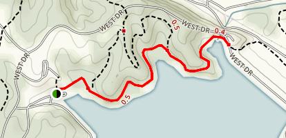 West Dam Trail Map