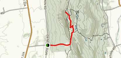 West Trail to Hotel Overlook Map
