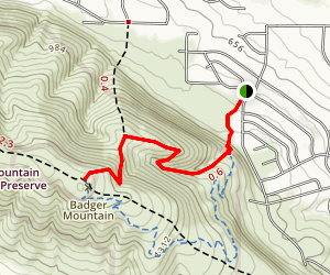 Badger Mountain Map
