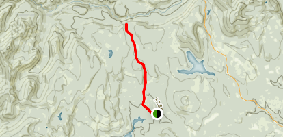 Jackpot Meadow via Little Crater Lake Map