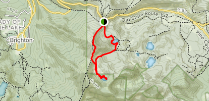 Lackawaxen and Bloods Lake Loop Map