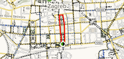 Central Zagreb Map