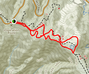 Inspiration Point to Snowmaking Pond Loop Map