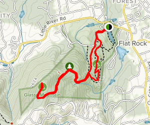 Big Glassy Trail to Little Glassy Mountain Trail Loop Map