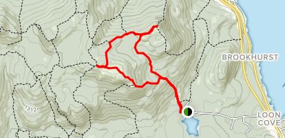 Straightback and Mount Major Loop Map