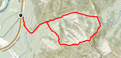 Midnight Peak from Baldy Pass Map