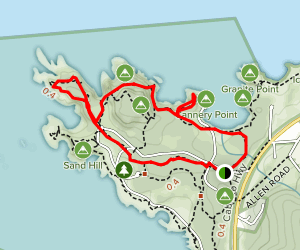 Lace Lichen, North Shore, and Cannery Point Trail Map