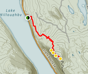 Mount Pisgah Via North Trail Map