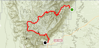 McKittrock Canyon to Pine Springs Map