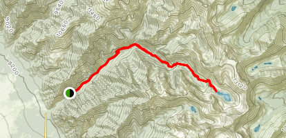 North Crestone Creek Trail Map