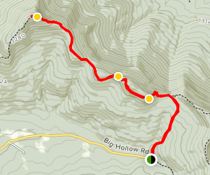 Windham High Peak via Black Dome Range Trailhead Map