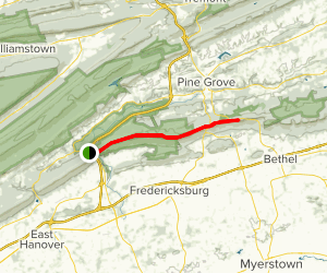 Appalachian Trail: Swatara Gap to 501 Shelter Map