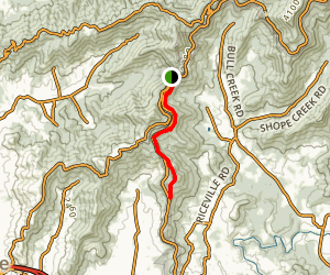 Mountains to Sea Trail: Craven Gap to Haw Creek Valley Map