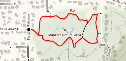 Maricara Natural Area Loop Hike Map