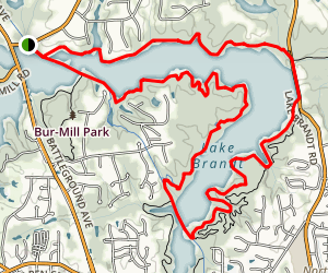 Lake Brandt Loop Map