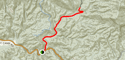 Trail to Emery Creek Falls Map