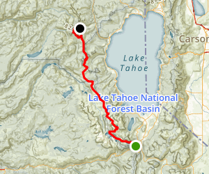 PCT- Echo Lake to Squaw Valley Map