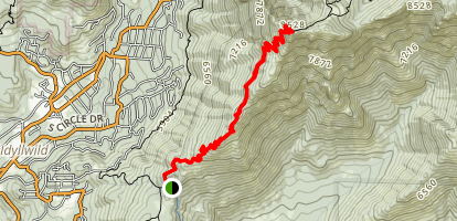 Tahquitz Peak via South Ridge Trail Map