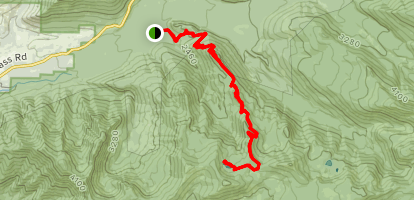 Cast Creek Trail to Cast Lake Map