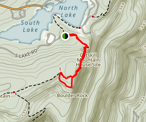 Boulder Rock and Catskill Mountain House Map