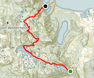 Echo Lake to Emerald Bay via Pacific Crest Trail Map