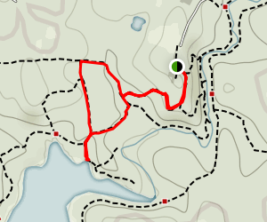 Rocky Ridge Trail to Big Pine Trail To Lakeside Trail Loop Map