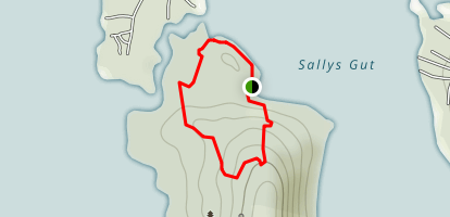 Stonedam Island Main Loop Trail Map