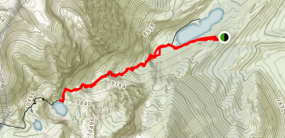 Bloody Canyon Trail Map