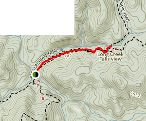 Long Creek Falls via Appalachian Trail Map